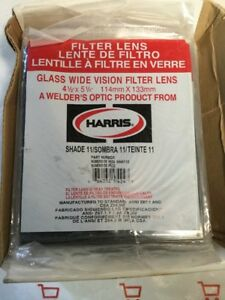Harris Shade 10 Welding Helmet Glass Filter Plate Lens 4 1 2 X 5 1 4 Box Of 15