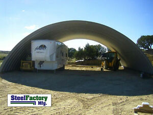 Prefab Steel 51x150x17 Round Arch Style Metal Quonset Hut Farm Storage Building