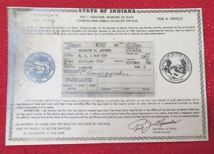 1937 Willy Cpe Vintage Car Historical Memorabilla Document