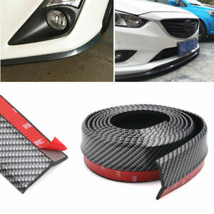 8ft Universal Pu Carbon Fiber Front Bumper Lip Splitter Chin Spoiler Body Trim