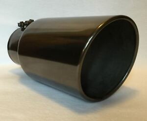 4 Inlet 6 Outlet 12 L Black Chrome Diesel Exhaust Tip Ford Powerstroke