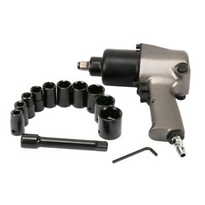 14pcs 1 2 Square Drive Air Impact Wrench Sockets Set Pneumatic Tool 8000rpm New