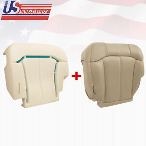 2000 2001 2002 Tahoe Suburban Silverado Driver Bottom Seat Cover Cushion Tan