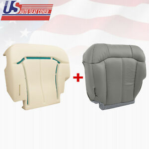 2000 2002 Chevy Suv Truck Driver Bottom Leather Seat Cover Foam Cushion Gray