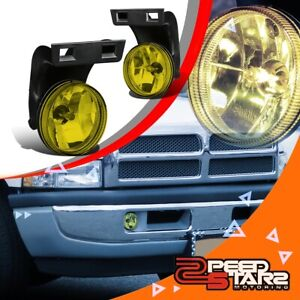 2pcs Amber Lens Front Bumper Fog Light Lamps Lh Rh For 94 98 Dodge Ram Truck