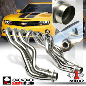Stainless Steel Long Tube Exhaust Header Manifold For 10 15 Chevy Camaro Ls3 L99