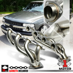 Stainless Steel Shorty Exhaust Header Manifold For 02 11 Chevy Silverado V8 8cyl
