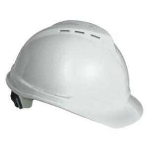 Advance Hard Hat Cap Work Safety Helmet Plastic Cooling Vents White Lightweight