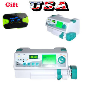 Vet Human Lcd Digital Injection Infusion Syringe Pump Injector Alarm Kvo Fda Ce