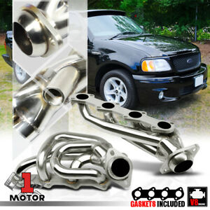 Stainless Steel Shorty Exhaust Header Manifold For 97 03 Ford F150 5 4 330 V8