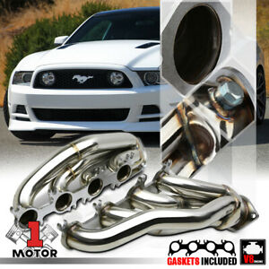 Stainless Steel Shorty Exhaust Header Manifold For 11 14 Ford Mustang 5 0 302 V8