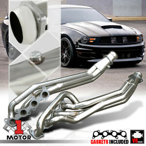 Stainless Steel Long Tube Exhaust Header Manifold For 11 16 Mustang 5 0 302 V8
