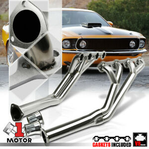 Ss Long Tube Tri Y Exhaust Header Manifold For 64 70 Ford Mustang 5 0 260 302 V8