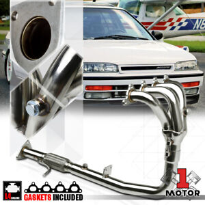 Stainless Steel 4 1 Exhaust Header Manifold For 90 93 Honda Accord 2 2 F22a 4cyl
