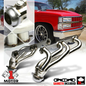 Ss Exhaust Header Manifold For 88 97 Chevy gmc C k Pickup Truck Gmt400 5 0 5 7