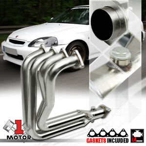 Stainless Steel 4 1 Exhaust Header Manifold For 99 00 Civic Si del Sol B16a2 B16