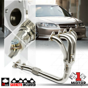 Stainless Steel 4 1 Exhaust Header Manifold For 98 02 Honda Accord 2 3 F23a 4cyl
