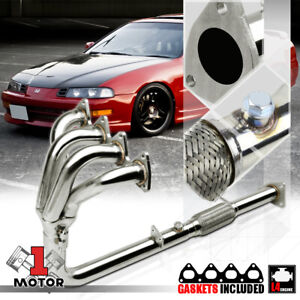 Stainless Steel 4 1 Exhaust Header Manifold For 92 96 Honda Prelude H22a1 Bb1