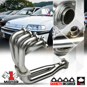 Ss 4 2 1 Exhaust Header Manifold For 88 00 Civic Crx Del Sol D Series D15 D16 I4