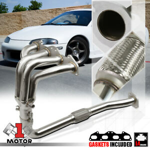 Ss Exhaust Header Manifold For 95 99 Mit Eclipse Talon 2g 420a 2 0 Non Turbo Na