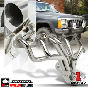 Ss Full Length Exhaust Header Manifold For 87 93 Jeep Cherokee wagoneer 4 0 I6