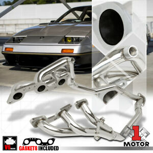 Ss Full Length Exhaust Header Manifold y pipe For 84 89 300zx Z31 Vg30e 3 0 Na