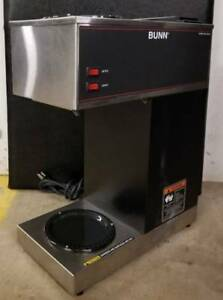 Bunn Vpr Blk 12 Cup Pourover Coffee Brewer Maker Machine O matic 2 Warmers