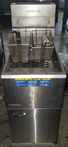 Pitco Commercial Deep Fryer Gas 2 Basket 45c Floor Tube Fired 45 Pound Capacity