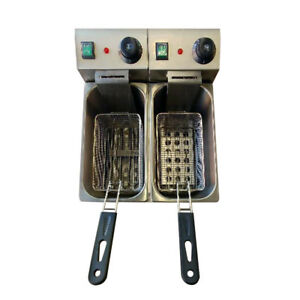 Pantin Commercial 16l Double Well Electric Countertop Deep Fryer 240v 5000w