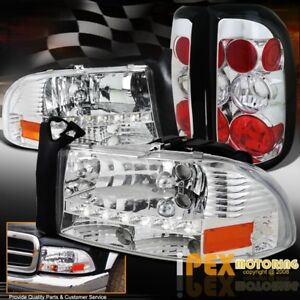 1997 2004 Dodge Dakota Led Headlights W Corner Signals Tail Lights Chrome