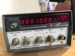Hp agilent 5300b 5305a 1 1 Ghz Counter And Display 1100mhz