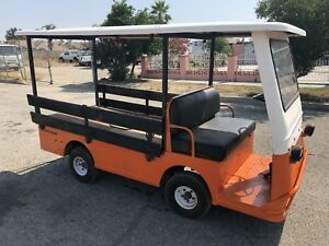 Taylor Dunn B2 48 Industrial Flatbed Electric Utility Cart Side Rails Canopy Top