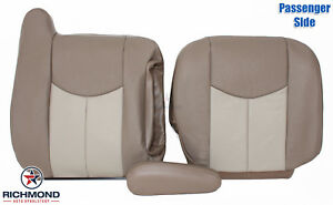 03 06 Gmc Yukon Yukon Xl Denali Passenger Side Complete Leather Seat Covers Tan