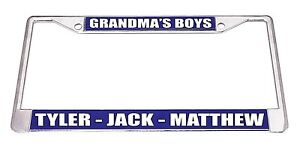 Custom Metal Business License Plate Frame Advertise Your Business Any Color