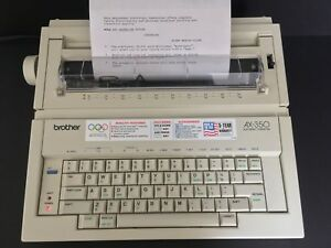 Brother Ax 350 Electronic Typewriter With Keyboard Cover Tested And Working