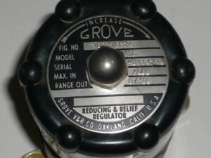 Grove Hand Loader Pressure Reducing Regulator Model 15l 0 300 Psig