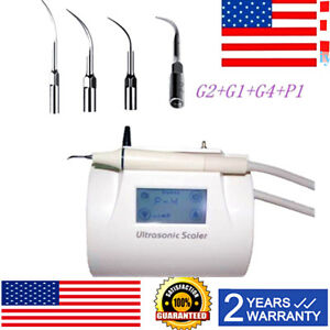 Lcd Touch Screen Dental Piezo Ultrasonic Scaler With Scaling Handpiece Tips 110v
