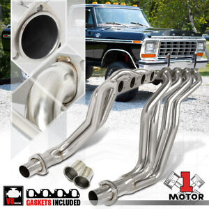 Ss Long Tube Exhaust Header Manifold For 77 79 Ford F150 f250 f350 5 8 6 6 V8