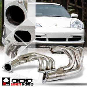 Stainless Steel Exhaust Header Manifold For 99 08 Porsche 911 996 997 3 6 3 8 H6