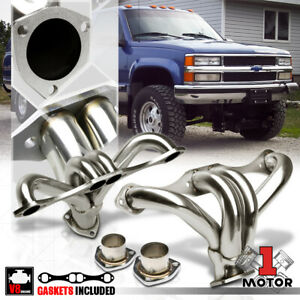 Stainless Steel Exhaust Header Manifold For Chevy Gmc Small Block Hugger Sbc V8