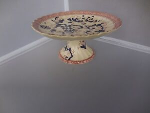 Ironstone Imari Compote Cobalt And Red Indian Pattern British Ca 1860