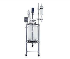 10l Jacketed Glass Chemical Reactor glass Reaction Vessel Ship From Us