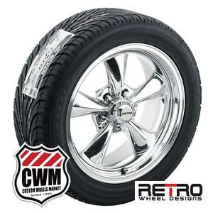 17 Inch 17x7 17x8 Polished Wheels Rims R t5 Tires For Ford Cars 1959 1979