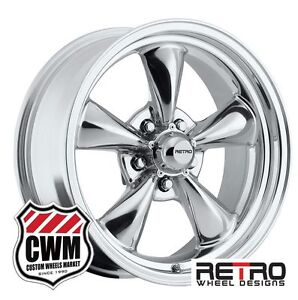 17 Inch 17x7 17x8 Polished Aluminum Wheels Rims For Ford Galaxie 1959 1972
