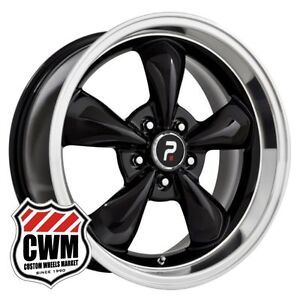 17 Inch 17x8 Classic 5 Spoke Black Wheels Rims For Chevy Camaro 1967 1981
