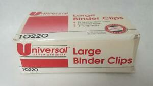 Universal Large Binder Clips 1 Capacity 2 Wide Black 20 Boxes
