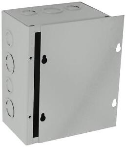 New Gray Bud Nema 1 Sheet Metal Junction Box Electrical Enclosure Project 6x8x4