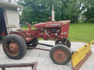 Farmall 140 Tractor With 60 Belly Mower 60 Plow Works Runs Well Downsizing