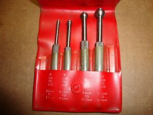 Starrett S829e Small Hole Gages 4 piece Set W Pouch