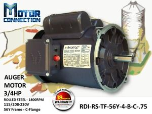 3 4 Hp Electric Motor Auger Motor 1800 rpm Single Phase 56y Frame